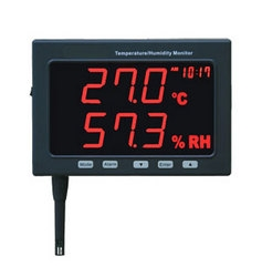 Large LED Temp/Humidity Datalogging Monitor